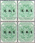Transvaal 1901 SG 238 Coat of Arms with ERI Overprint Fine Mint Block of 4