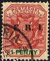 Transvaal 1901 SG 239 Coat of Arms with ERI Overprint Fine Used