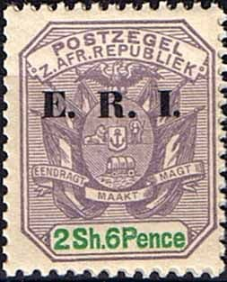 Transvaal 1901 SG 242 Coat of Arms with ERI Overprint Fine Mint