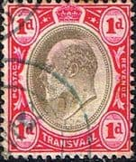 Transvaal 1902 SG 245 King Edward VII Head Fine Used