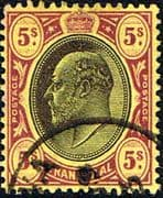 Transvaal 1902 SG 254 King Edward VII Head Fine Used