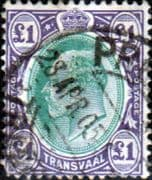 Transvaal 1903 SG 258 King Edward VII Head Fine Used