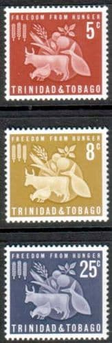 Trindad and Tobago 1963 Freedom From Hunger Set Fine Mint