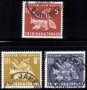 Trindad and Tobago 1963 Freedom From Hunger Set Fine Used