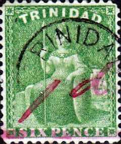 Trinidad 1882 Britania Surcharged SG 104 Surcharged Fine Used