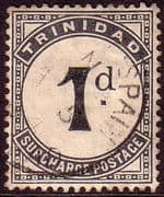 Trinidad 1885 Post Due SG D 2 Fine Used