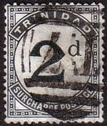 Trinidad 1885 Post Due SG D 3 Fine Used