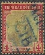 Trinidad and Tobago 1913 Britania SG 152 Fine Used