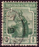 Trinidad and Tobago 1913 Britannia SG 149 Fine Used