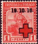 Trinidad and Tobago 1916 Red Cross Overprint SG 175 Fine Mint