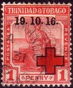Trinidad and Tobago 1916 Red Cross Overprint SG 175 Fine Used