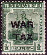 Trinidad and Tobago 1917 WAR TAX Overprint SG 181 Fine Mint