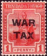 Trinidad and Tobago 1917 WAR TAX Overprint SG 182 Fine Mint