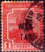 Trinidad and Tobago 1918 WAR TAX Overprint SG 185 Fine Used