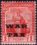 Trinidad and Tobago 1918 WAR TAX Overprint SG 186 Fine Mint