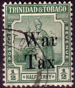 Trinidad and Tobago 1918 WAR TAX Overprint SG 187 Fine Used