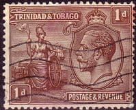 Trinidad and Tobago 1922 King George V Britania SG 219 Fine Used