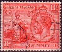 Trinidad and Tobago 1922 King George V Britania SG 220 Fine Used