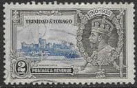 Trinidad and Tobago 1935 Silver Jubilee SG 239a Extra Flag Staff Fine Used