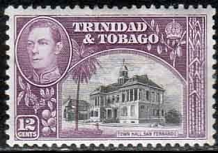 Trinidad and Tobago 1938 SG 252a Town Hall Fine Mint