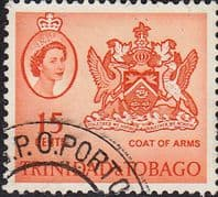 Trinidad and Tobago 1960 SG 291a Coat of Arms Fine Used