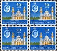 Trinidad and Tobago 1960 SG 294 Mohammed Jinnah Mosque Fine Used Block of 4