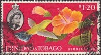 Trinidad and Tobago 1960 SG 296 Humming Bird and Hibiscus Fine Used