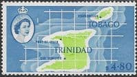 Trinidad and Tobago 1960 SG 297 Map Fine Mint