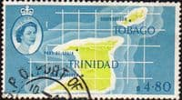 Trinidad and Tobago 1960 SG 297 Map Fine Used