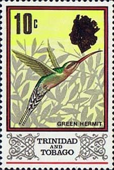 Trinidad and Tobago Stamps 1969 Bird Green Hermit