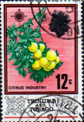 Trinidad and Tobago Stamps 1969 SG 345 Citrus fruit