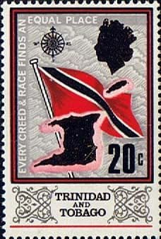 Trinidad and Tobago Stamps 1969 SG 347 Flag and Outline