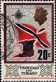 Trinidad and Tobago Stamps 1969 Flag and Outline
