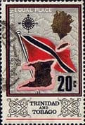 Trinidad and Tobago 1969 SG 347 Flag and Outline Fine Used