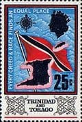 Trinidad and Tobago 1969 SG 348 Flag and Outline Fine Mint