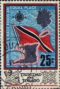 Trinidad and Tobago 1969 SG 348 Flag and Outline Fine Used