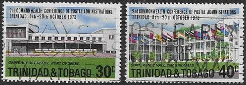 Trinidad and Tobago 1973 Commonwealth Postal Conference Set Fine Used