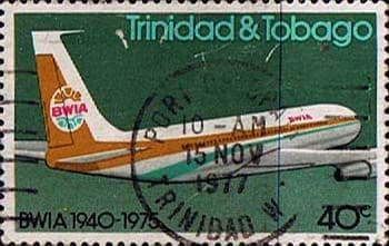 Trinidad and Tobago 1975 British West Indian Airways