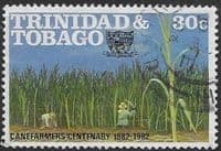 Trinidad and Tobago 1982 Cane Farmers Association SG  614 Fine Used