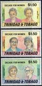 Trinidad and Tobago 1985 Decade for Women Set Fine Mint