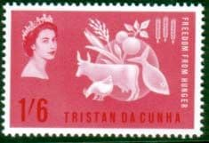 Stamps Tristan da Cunha 1963 Freedom From Hunger Fine Mint