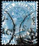 Straits Settlements 1867 Queen Victoria SG 15 Fine Used