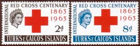 Turks and Caicos Islands Stamps Red Cross Centenary