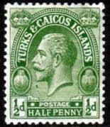 Turks and Caicos Island 1922 SG 163 King George V Head Fine Mint