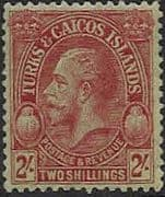 Turks and Caicos Island 1928 SG 184 King George V Head Fine Mint