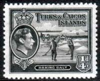 Turks and Caicos Island 1938 SG 194 Raking Salt Fine Mint