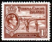 Turks and Caicos Island 1938 SG 196 Raking Salt Fine Mint