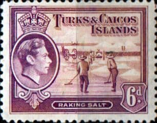 Turks and Caicos Island 1938 SG 201 Raking Salt Fine Mint