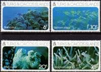 Turks and Caicos Island 1975 Coral Set Fine Mint