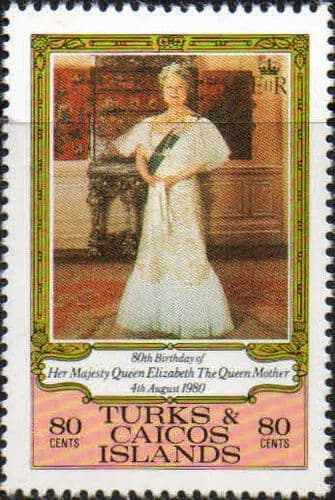 Turks and Caicos Island 1980 80th Birthday of The Queen Mother Fine Mint